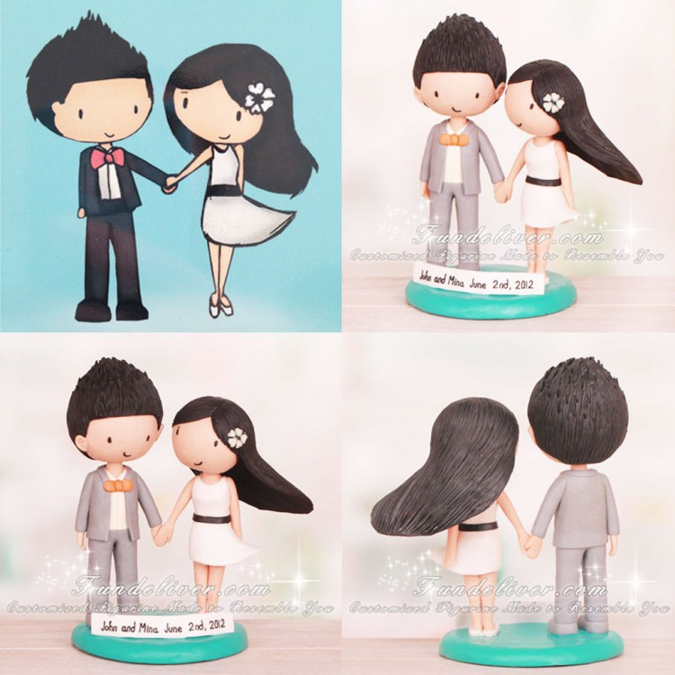 Fun Cartoon Wedding Cake Topper Picture in Wedding Cake