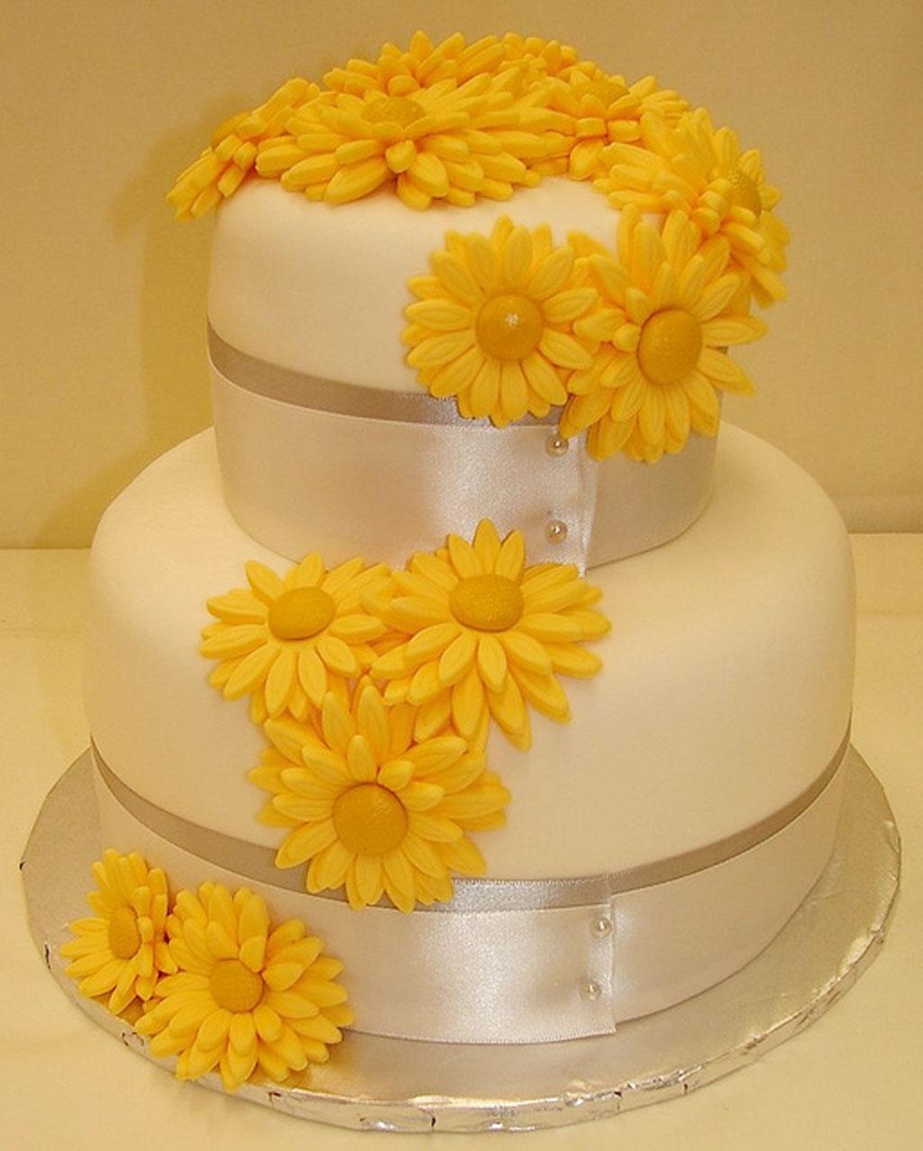 Gerber Daisy Grooms Wedding Cake Wedding Cake Cake Ideas