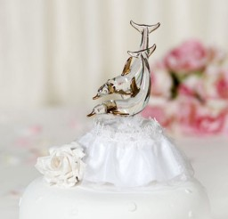 1024x1280px Glass Beach Dolphin Wedding Cake Toppers Picture in Wedding Cake
