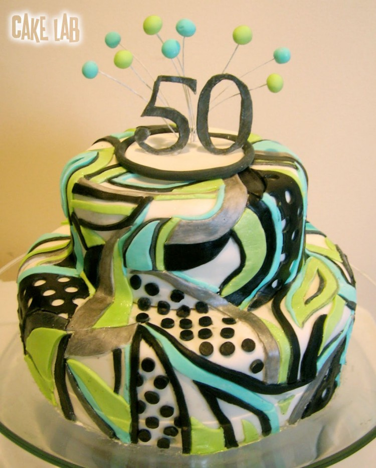 Green 50th Birthday Cake Picture in Birthday Cake