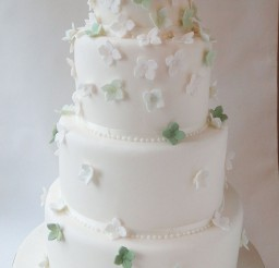 1024x1827px Green Mini Hydrangea Wedding Cakes Picture in Wedding Cake