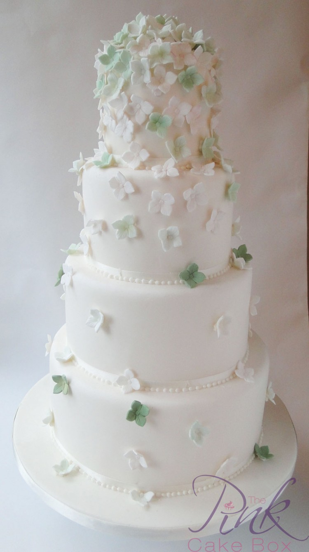 Green Mini Hydrangea Wedding Cakes Picture in Wedding Cake