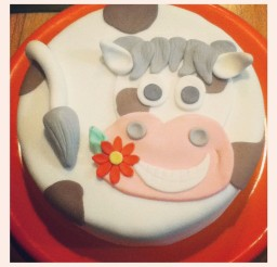 1024x1024px Happy Cow Birthday Cake Picture in Birthday Cake