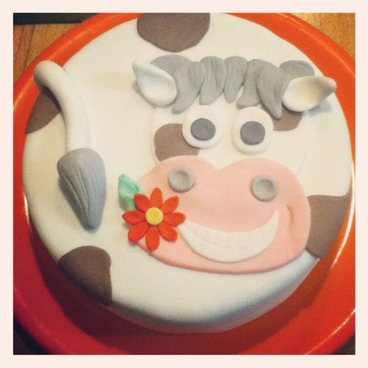 Happy Cow Birthday Cake Picture in Birthday Cake