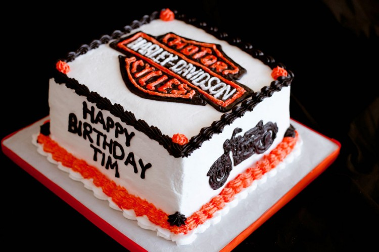 Harley Davidson Birthday Cake Picture in Birthday Cake