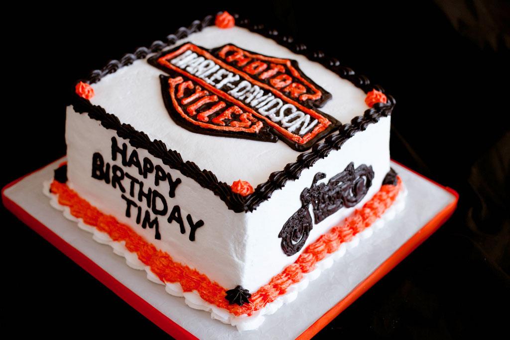 Happy Birthday Harley Davidson Cake