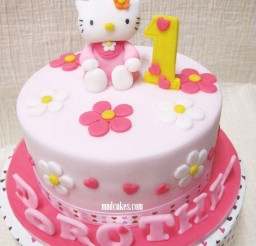 1024x1172px Hello Kitty 1st Birthday Cake Design Picture in Birthday Cake