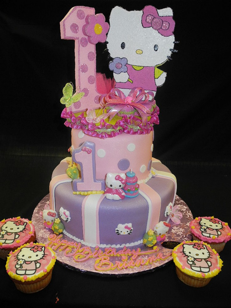 Hello Kitty Birthday Cake Picture in Birthday Cake