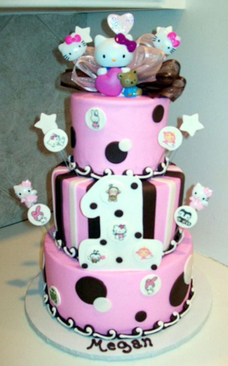 Hello Kitty Birthday Cake For Kids Picture in Birthday Cake