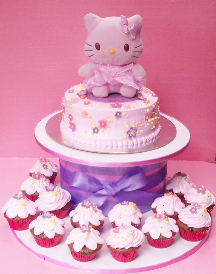 Hello Kitty First Birthday Cake Picture in Birthday Cake