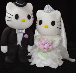 1024x1365px Hello Kitty Wedding Cakes Topper Picture in Wedding Cake