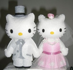1024x1364px Hello Kitty And Daniel Wedding Cake Topper Picture in Wedding Cake