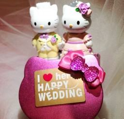 1024x1140px Hello Kitty And Daniel Wedding Cake Topper1 Picture in Wedding Cake