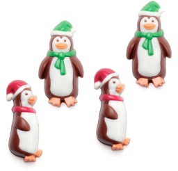 1024x1024px Holiday Penguins Mini Chocolate Candy Mold Christmas Chocolate Molds Picture in Chocolate Cake