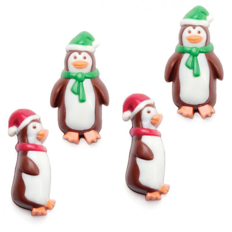 Holiday Penguins Mini Chocolate Candy Mold Christmas Chocolate Molds Picture in Chocolate Cake