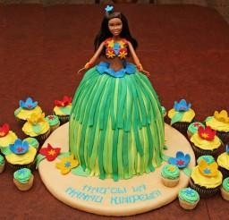 1024x802px Hula Barbie Birthday Cake Picture in Birthday Cake