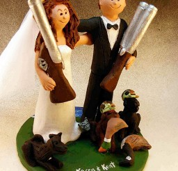 1024x1348px Hunting Bride And Groom Wedding Cake Topper Picture in Wedding Cake