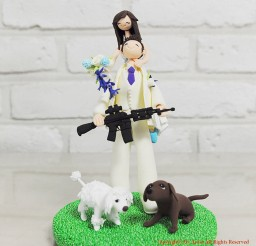 1024x1024px Hunting War Gaming Mania Wedding Cake Topper Picture in Wedding Cake