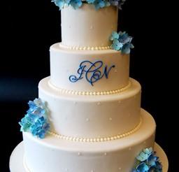 1024x1436px Hydrangea Blossom Ball Wedding Cake Picture in Wedding Cake