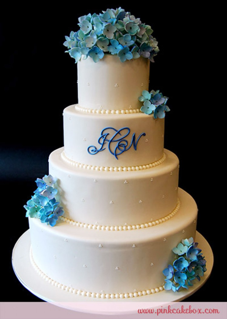 Hydrangea Blossom Ball Wedding Cake Picture in Wedding Cake