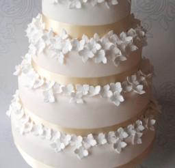 1024x1462px Hydrangea Wedding Cake Picture in Wedding Cake
