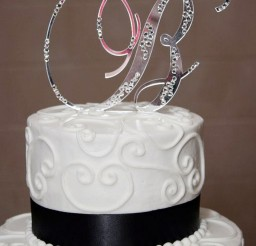 1024x1434px Initial B Wedding Bling Cake Topper Picture in Wedding Cake