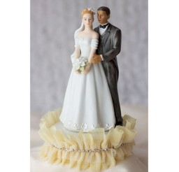 1024x1024px Interracial Wedding Cake Topper Picture in Wedding Cake