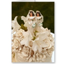 1024x1024px Lesbian Wedding Cake Figurines Picture in Wedding Cake
