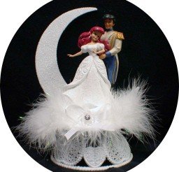 1024x1076px Little Mermaid Prince Eric Wedding Cake Topper Picture in Wedding Cake