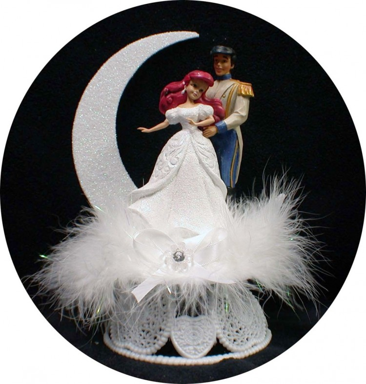 Little Mermaid Prince Eric Wedding Cake Topper Picture in Wedding Cake