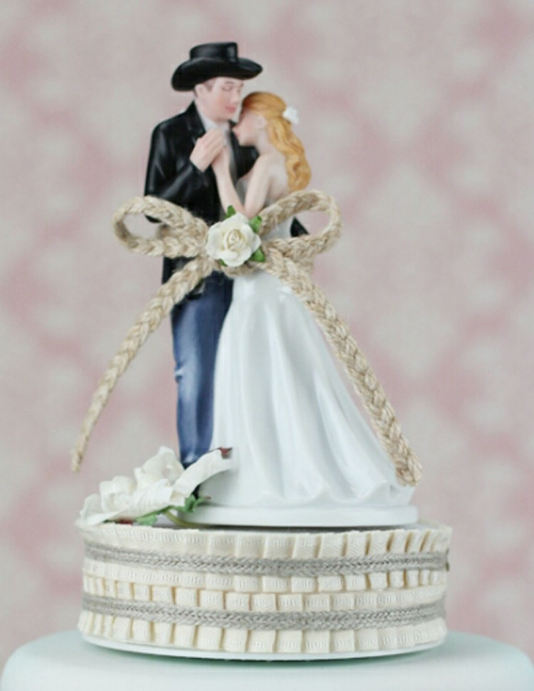 Love Western Wedding Cake Topper Picture in Wedding Cake