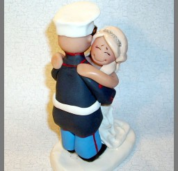 1024x1227px Marine Wedding Cake Topper Figurine Picture in Wedding Cake