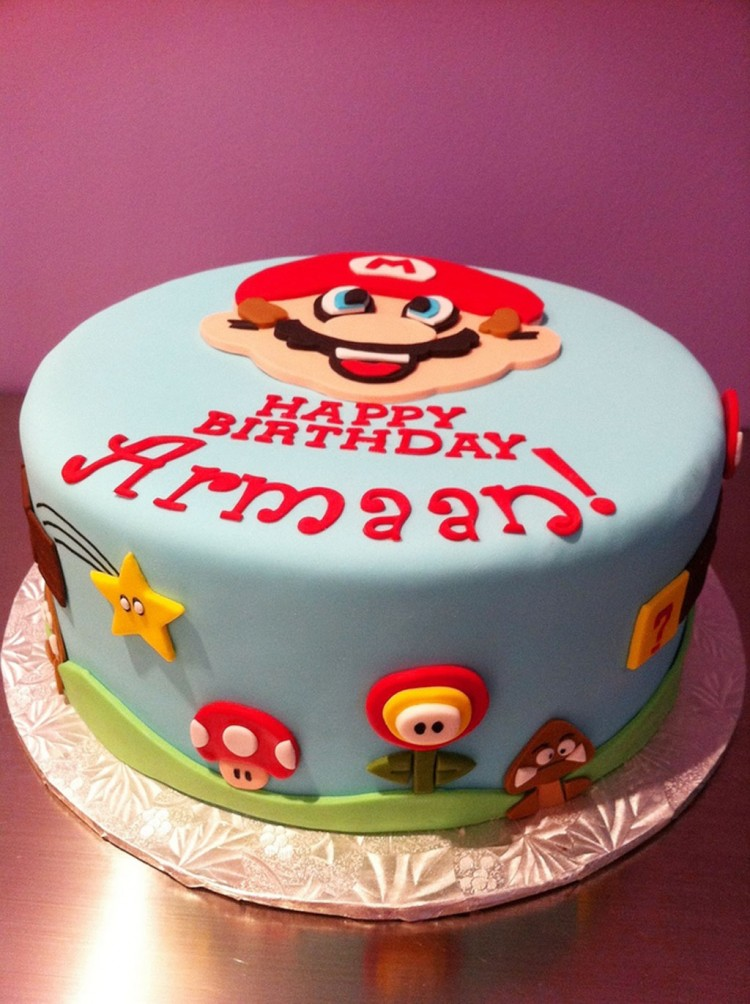 Mario Bros Birthday Cake Picture in Birthday Cake