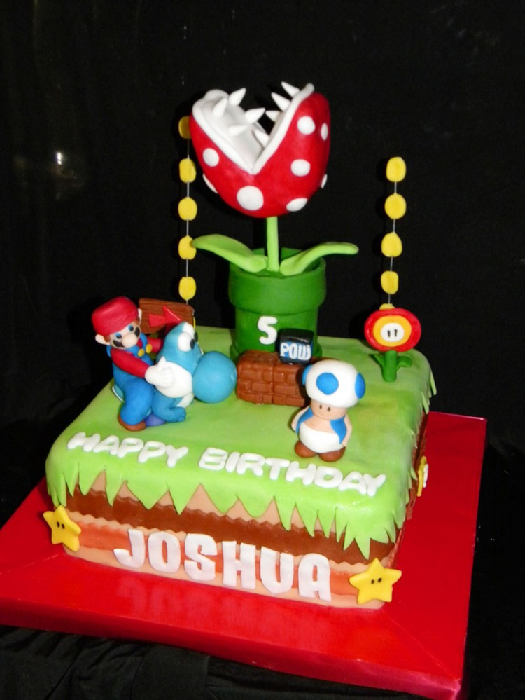 Mario Brothers Birthday Cake Picture in Birthday Cake