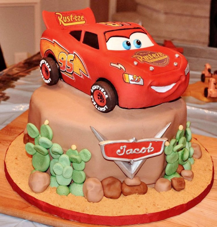 Mcqueen Cake For Birthday Picture in Birthday Cake