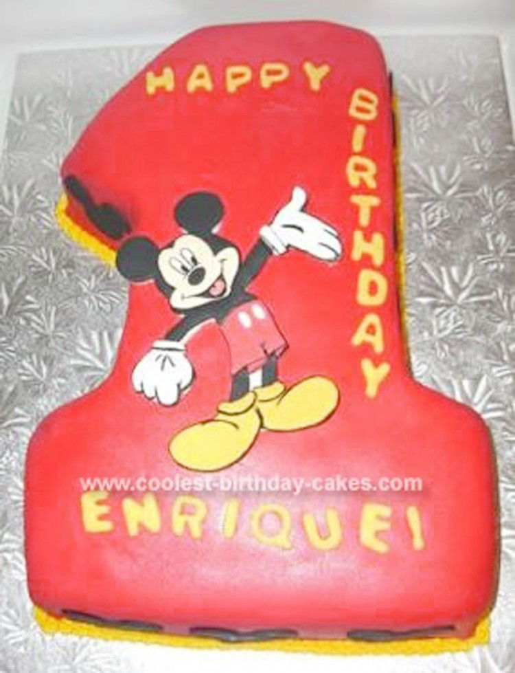 Mickey Mouse Birthday Cake Picture in Birthday Cake