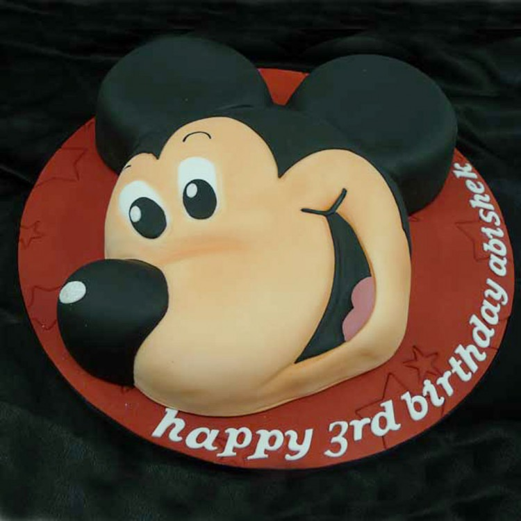 Mickey Mouse Cake For Birthday Picture in Birthday Cake