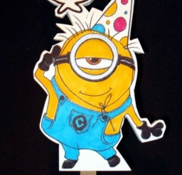 1024x1834px Minion Birthday Cake Topper Picture in Birthday Cake
