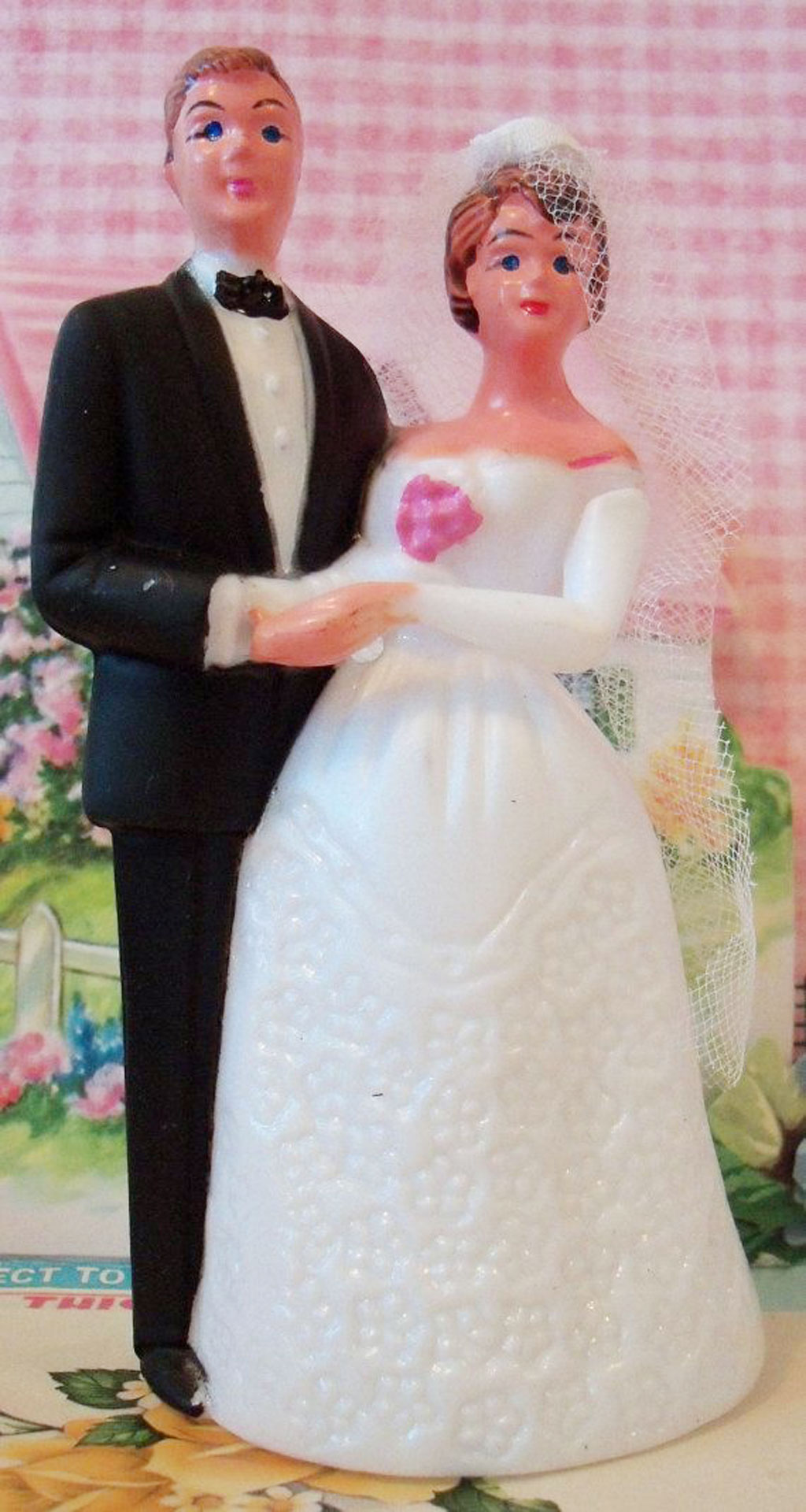 Modern Vintage Wedding Cake Topper Wedding Cake Cake