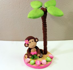 1024x1024px Monkey Themed Birthday Cake Toppers Picture in Birthday Cake