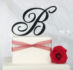 1024x1024px Monogram Wedding Cake Topper Picture in Wedding Cake