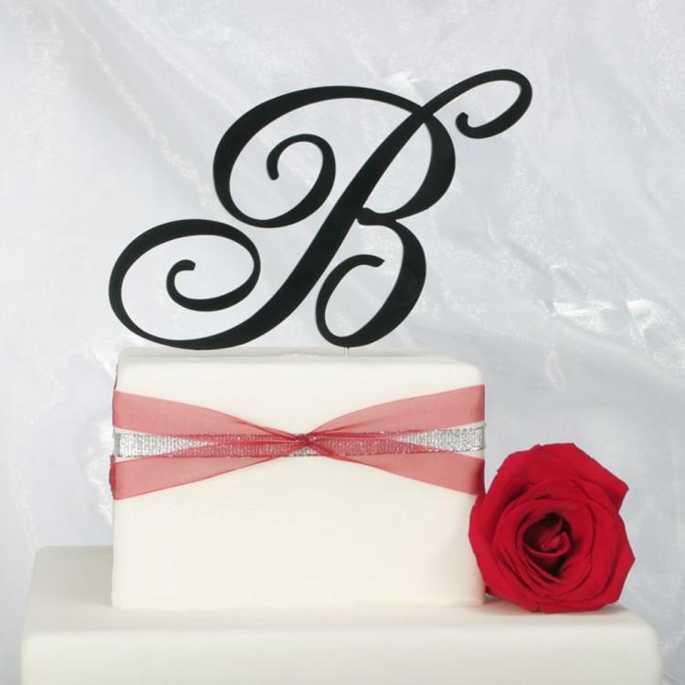 Monogram Wedding Cake Topper Picture in Wedding Cake