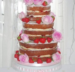 1024x1531px Naked Wedding Cake With Strawberries Picture in Wedding Cake