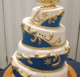 1024x1705px Nautical Topsy Turvy Wedding Cake Picture in Wedding Cake