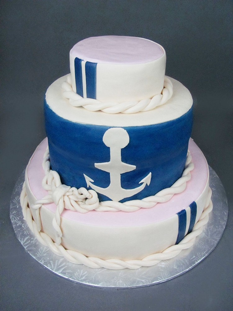 Nautical Wedding Cake Wedding Cake
