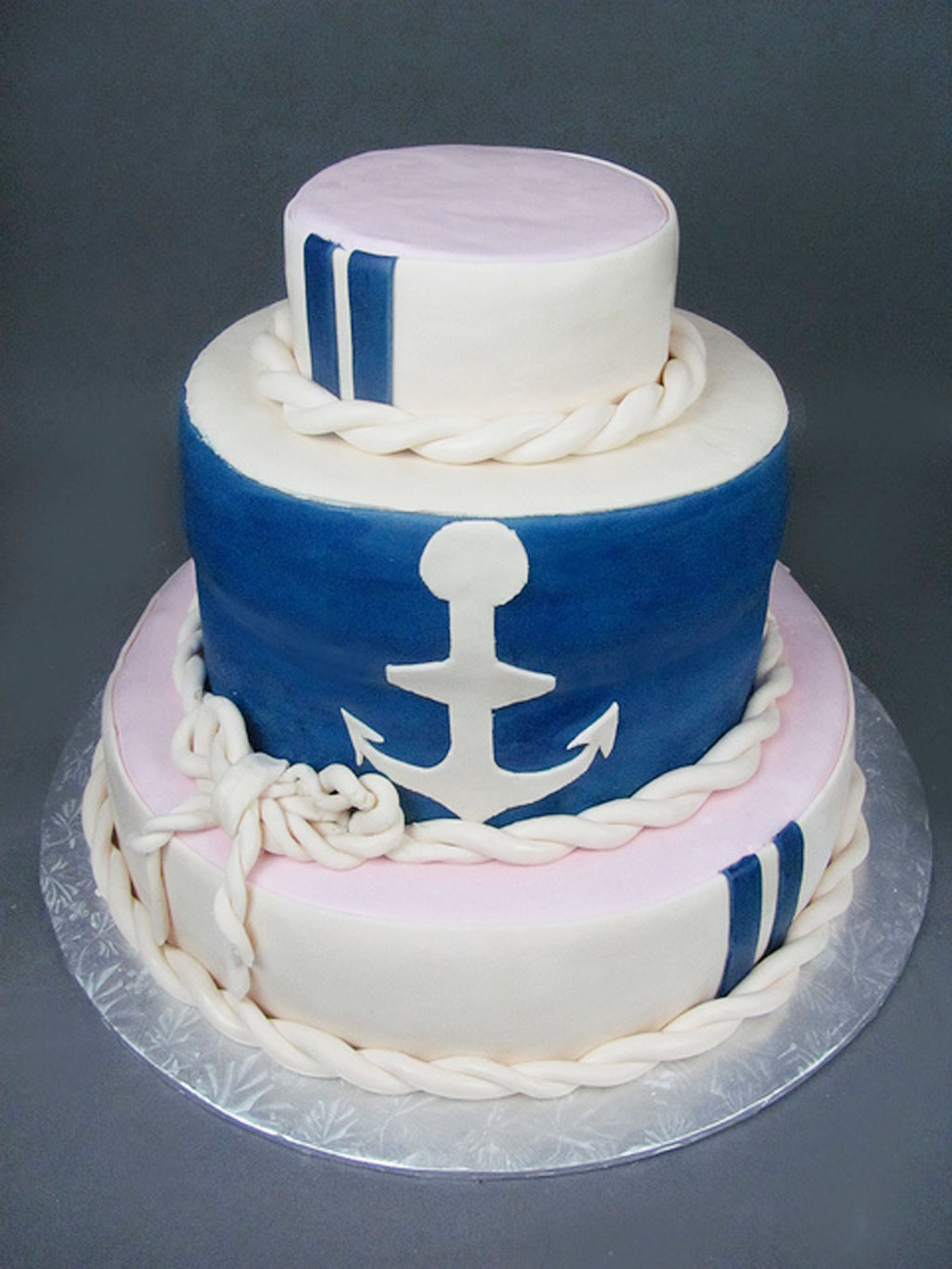 Nautical Wedding Cake Picture In Wedding Cake