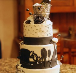 1024x1531px New Years Eve Wedding Cake Picture in Wedding Cake