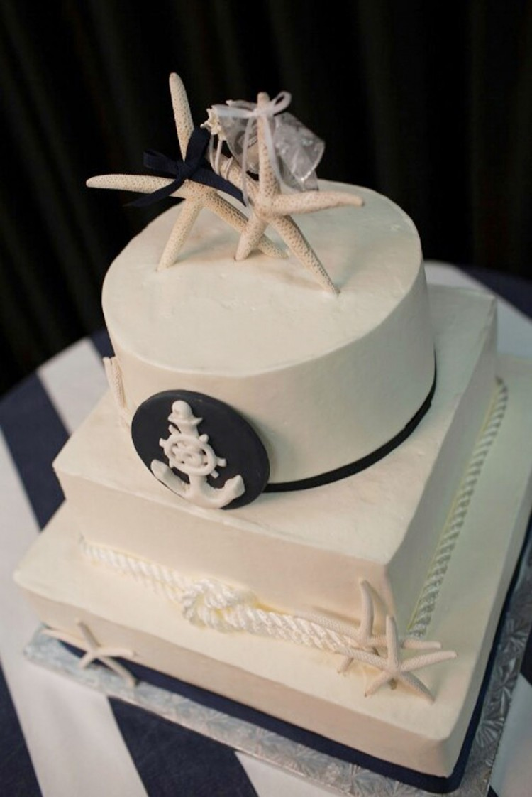 Nicely Done Nautical Wedding Cake Picture in Wedding Cake