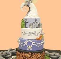 1024x1365px Nightmare Before Christmas Wedding Cake Picture in Wedding Cake