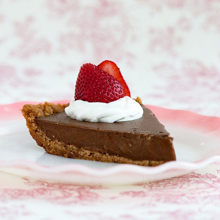 Old Fashioned Chocolate Pudding Pie Picture in Chocolate Cake